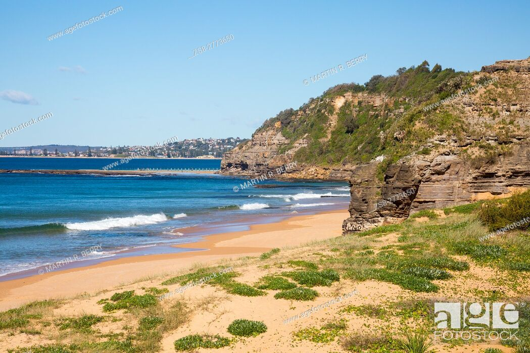 Stock Photo: Turimetta beach is one of Sydney's famous northern beaches, Australia.