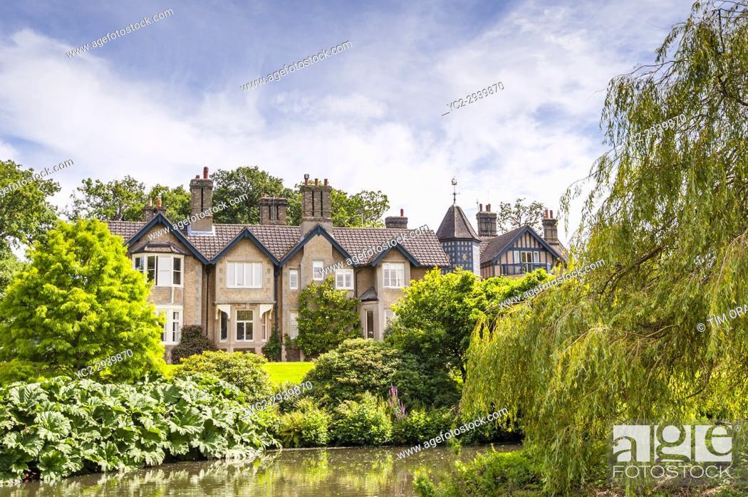 Stock Photo: York Cottage at Sandringham Estate in Norfolk , England , Britain , Uk.