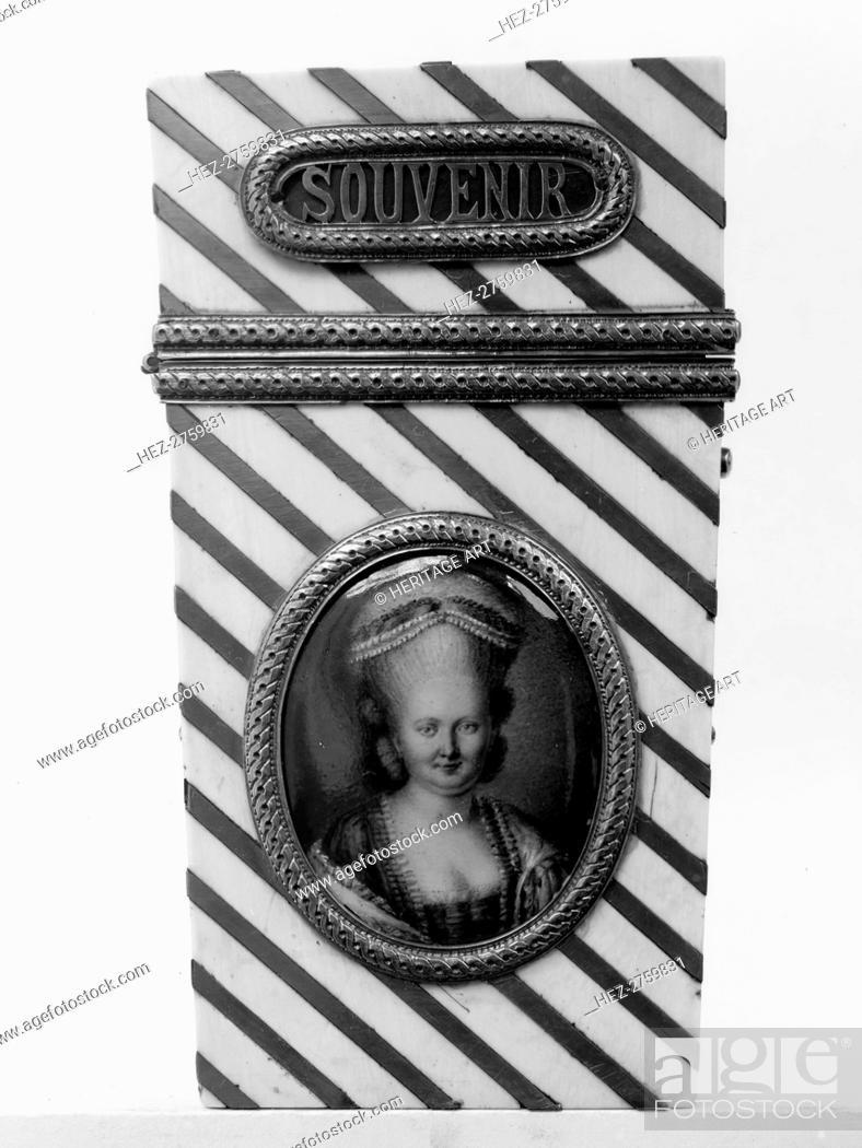 Photo de stock: Souvenir with portrait of a woman, 1775-85. Creator: Unknown.