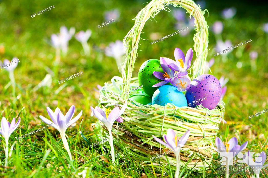 Stock Photo: Easter basket.
