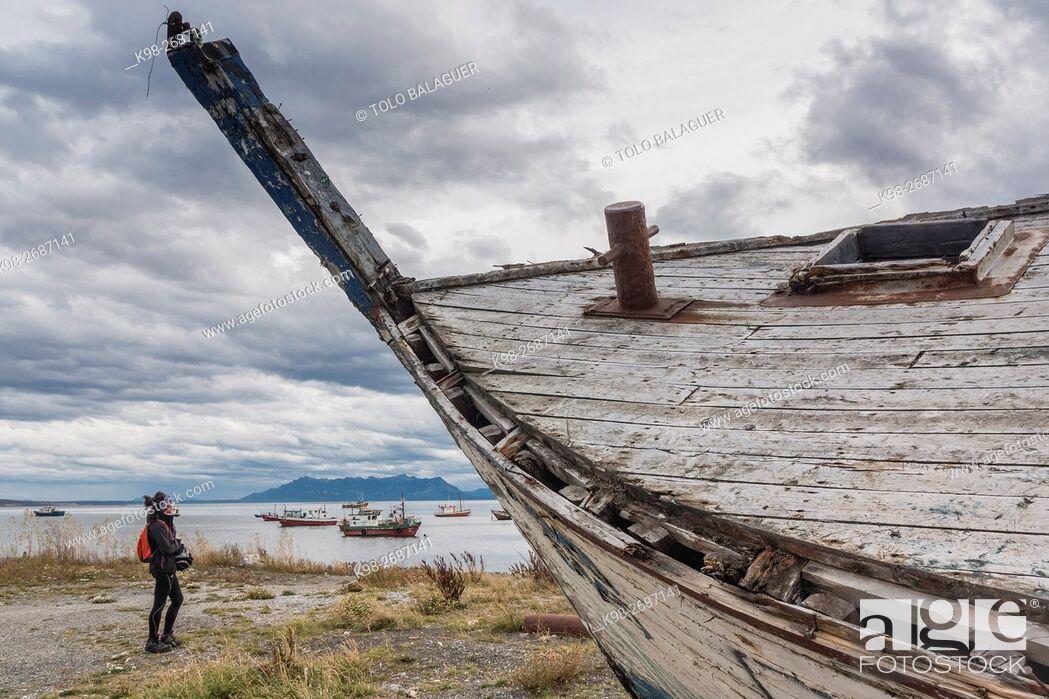 Imagen: Puerto Natales, Región de Magallanes , Antártica Chilena, Patagonia, República de Chile, América del Sur.
