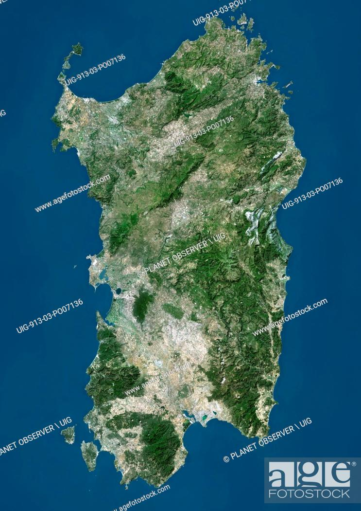 Satellite View Of Sardinia Italy It Is The Second Largest Island