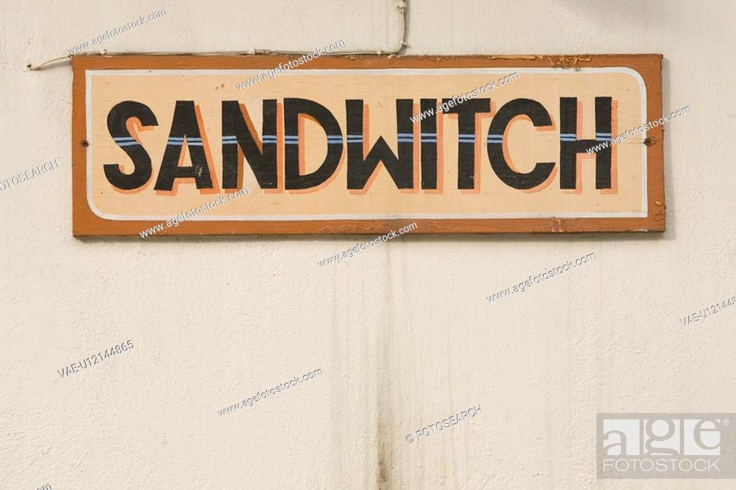 Stock Photo: Capital Letter, Close-Up, Information Board.