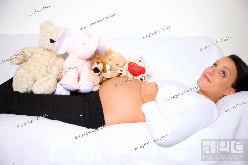 Stock Photo: Pregnant women.