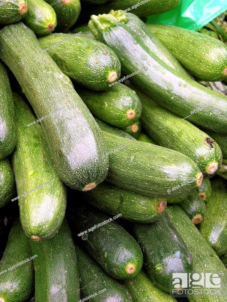 Stock Photo: Courgettes.