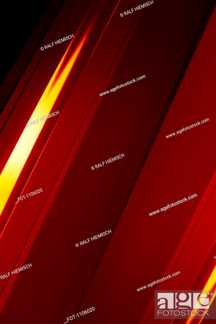 Stock Photo: Full frame abstract of red shape.