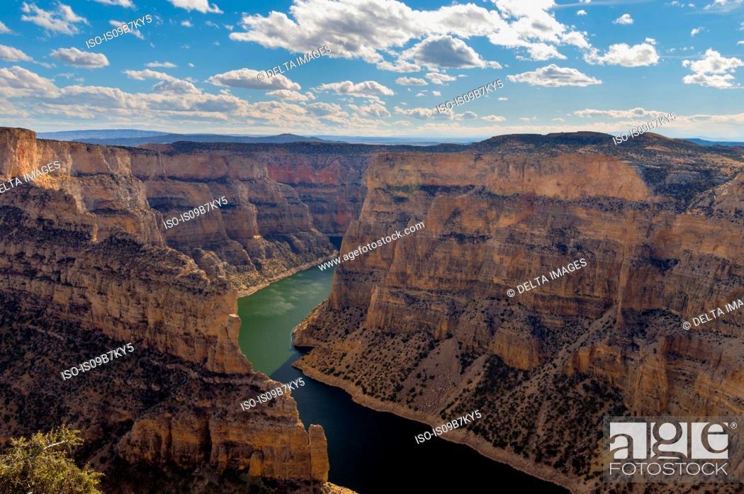 Imagen: Horseshoe Bend, Bighorn Canyon National Recreation Area, Wyoming, USA.