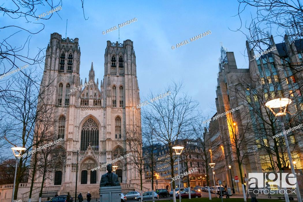 Photo de stock: Cathedral of St. Michael and St. Gudula, Brussels.