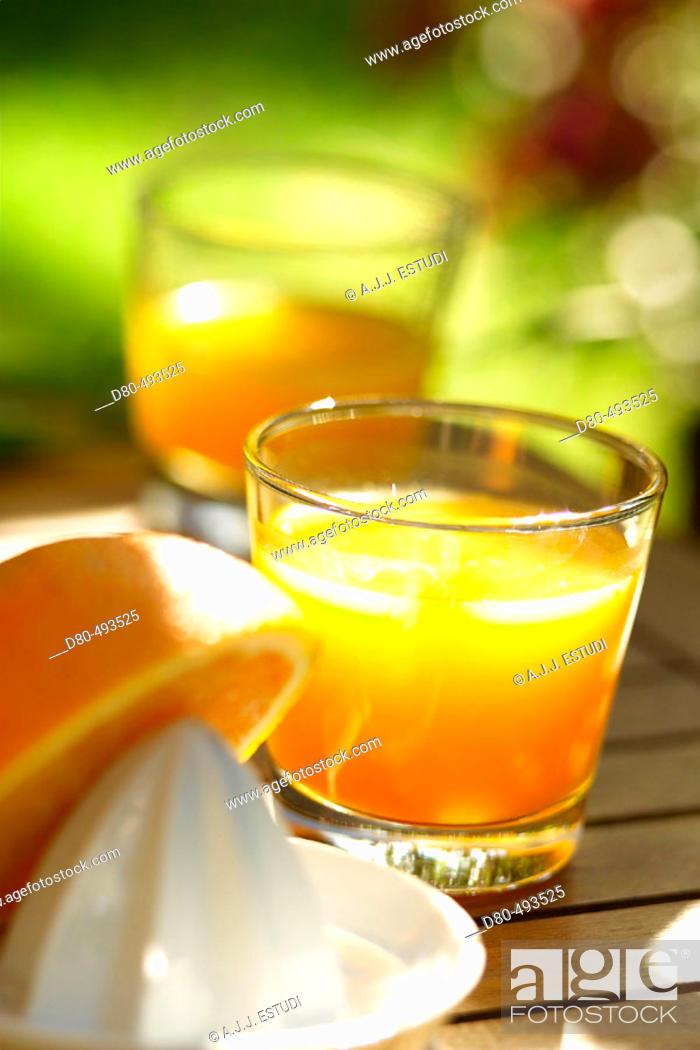Stock Photo: Orange juice.
