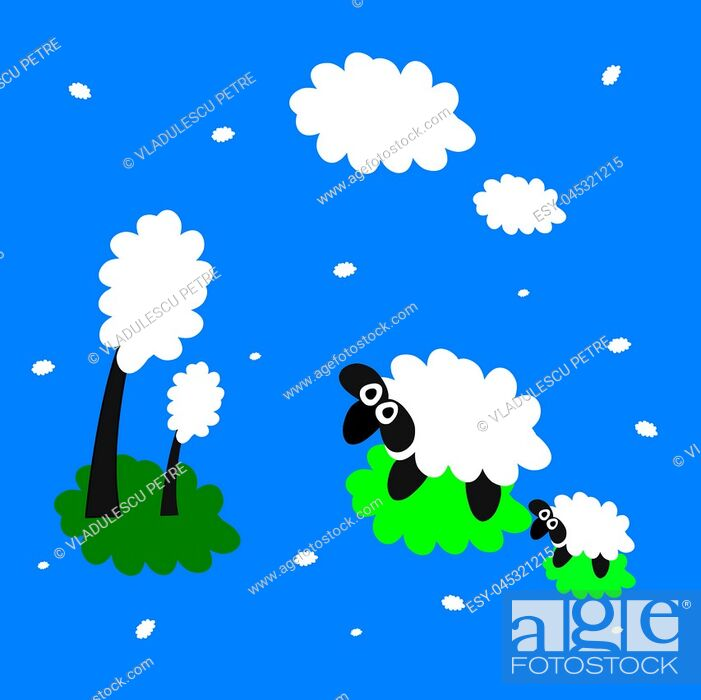 Stock Vector: The vision of the sheep.