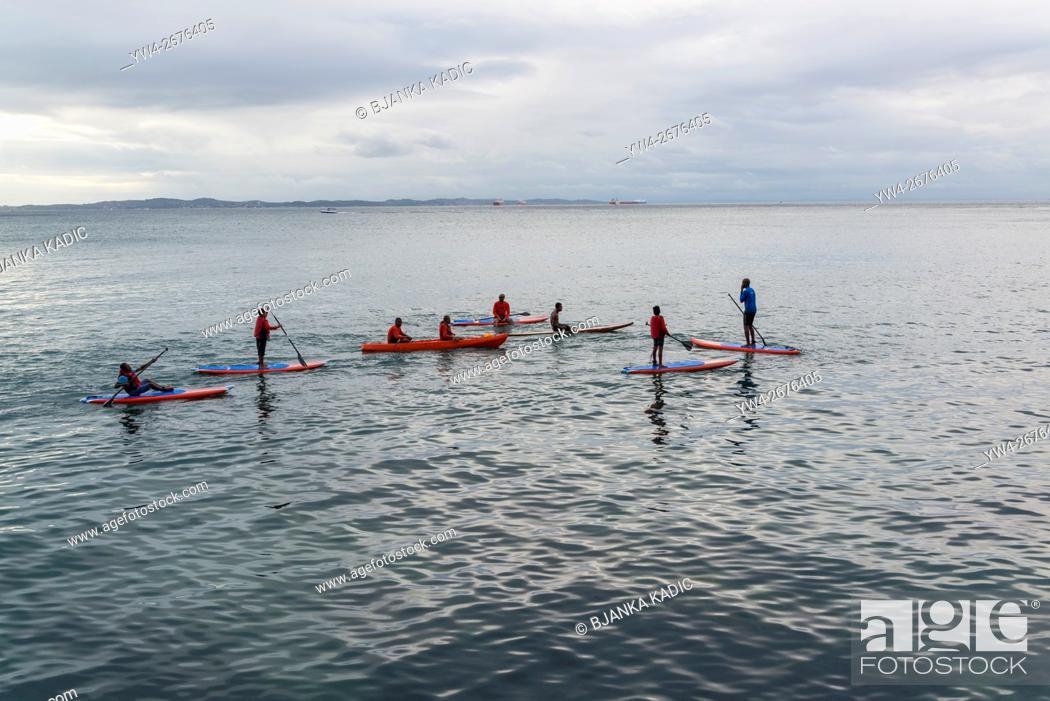 Photo de stock: Kayaking and Paddleboarding, Salvador, Bahia, Brazil.