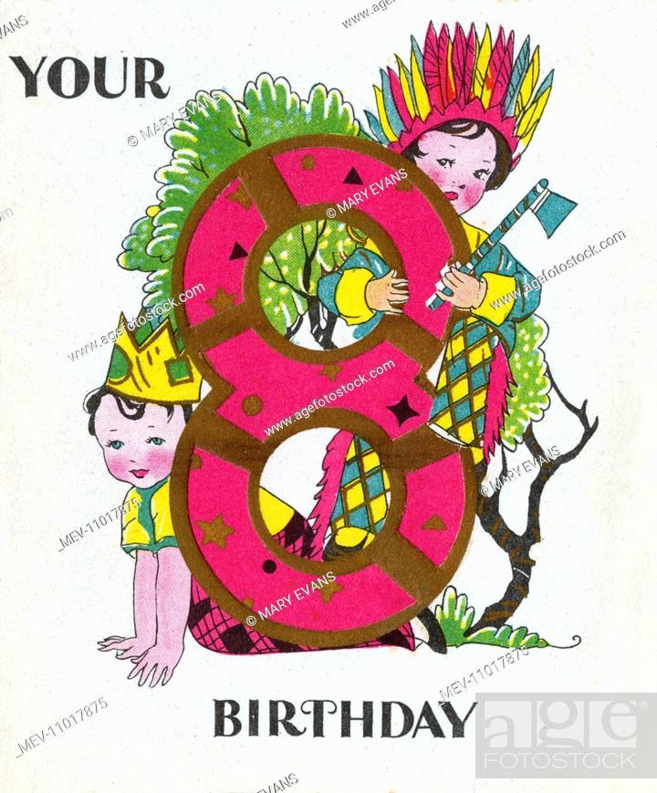 Birthday Card For An 8th