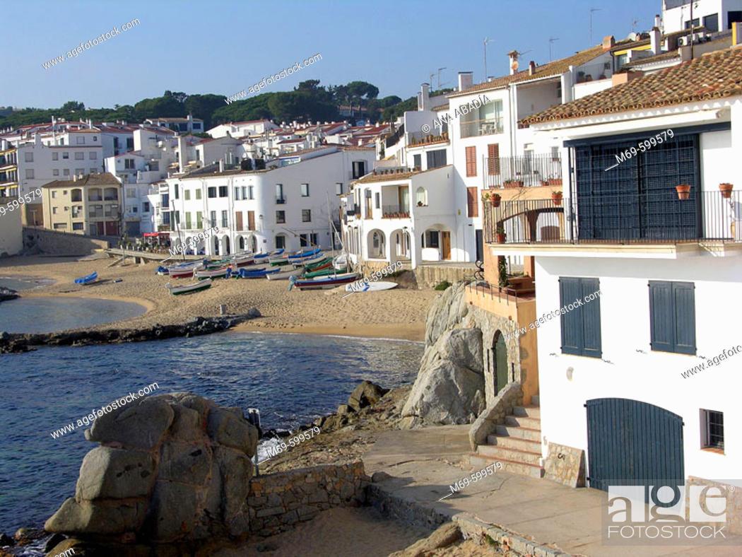 Stock Photo: Calella de Palafrugell, Costa Brava, Girona province. Catalonia. Spain.