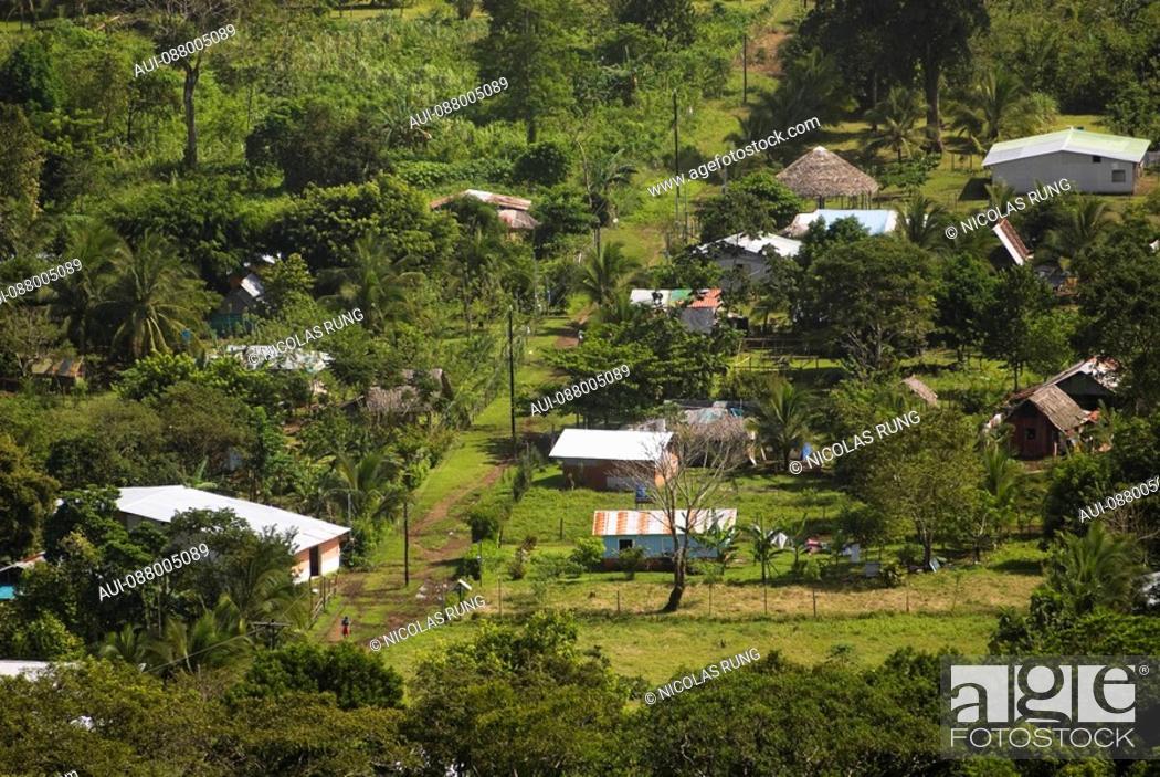 Stock Photo: Houses of Tortuguero village.