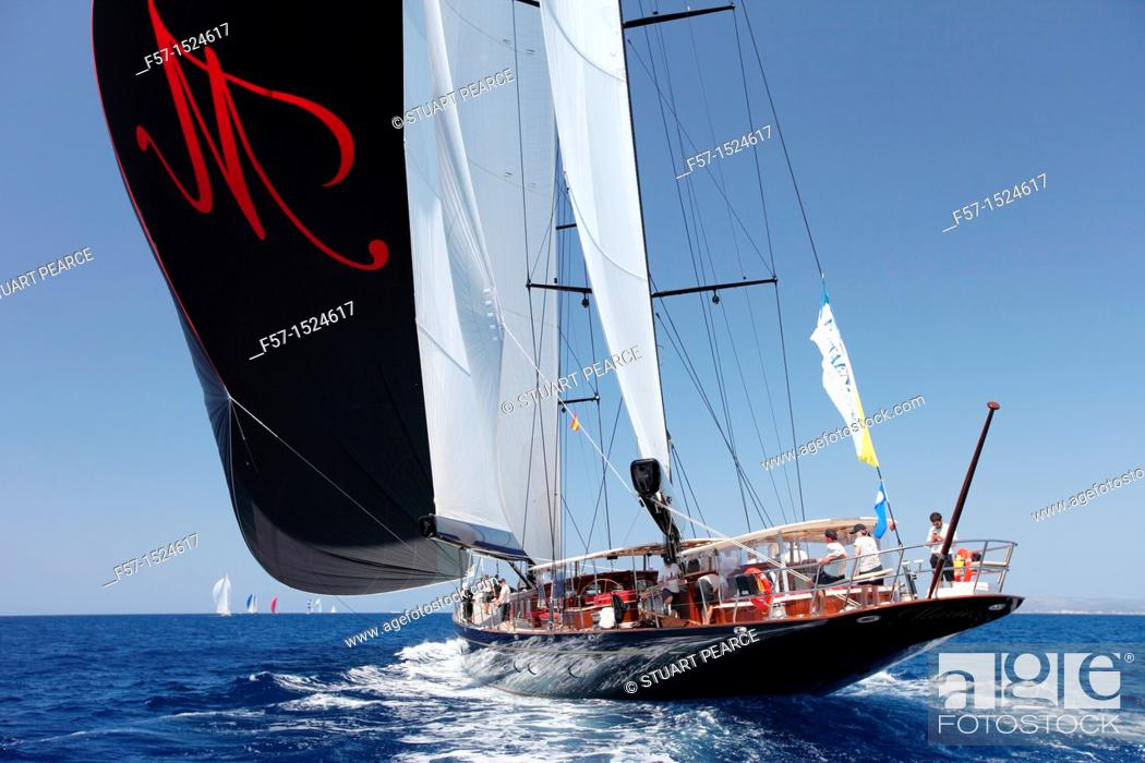 Stock Photo: Marie at the Superyacht Cup In Palma de Mallorca, Spain.