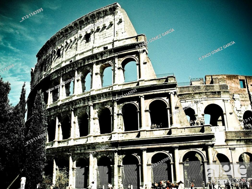 Stock Photo: Colosseum  Rome  Italy.