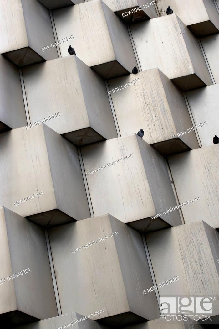 Stock Photo: Cube abstract wall.