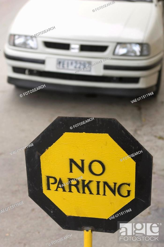 Stock Photo: Capital Letter, Car, Close-Up, Day, Focus On Foreground.