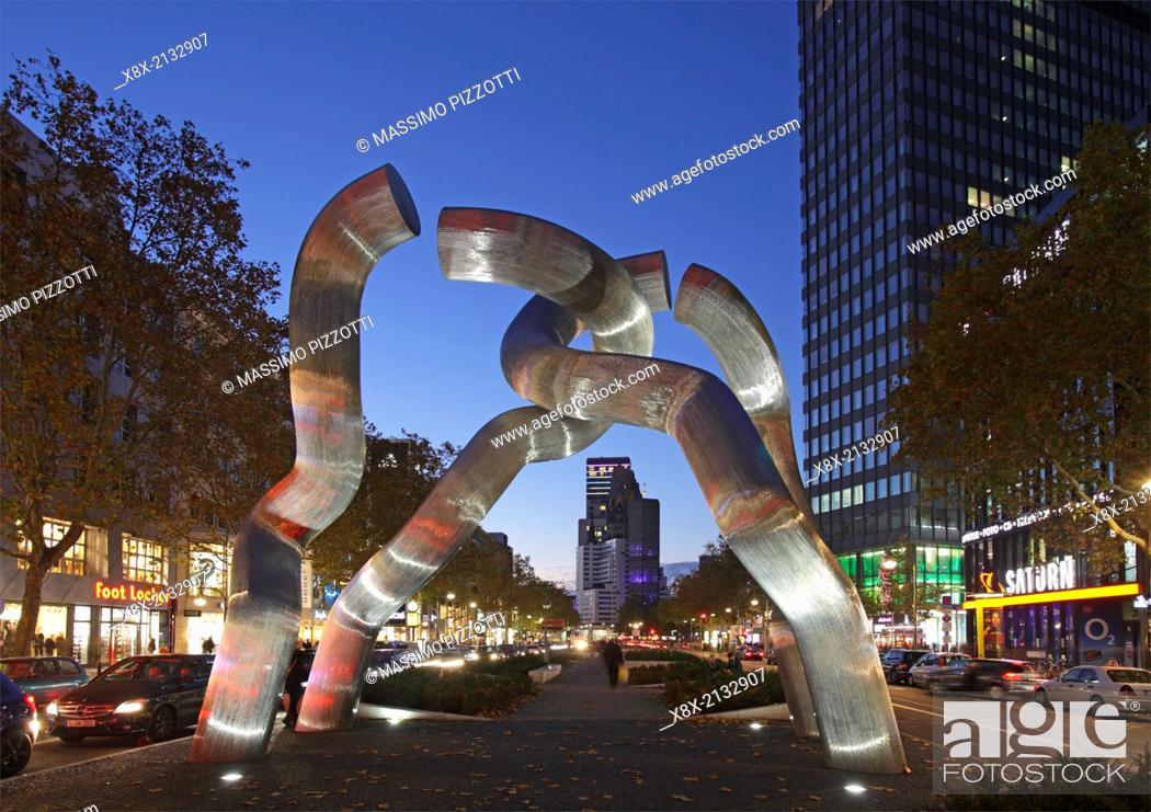 Stock Photo: Sculpture in Kurfurstendamm Avenue, Berlin, Germany.