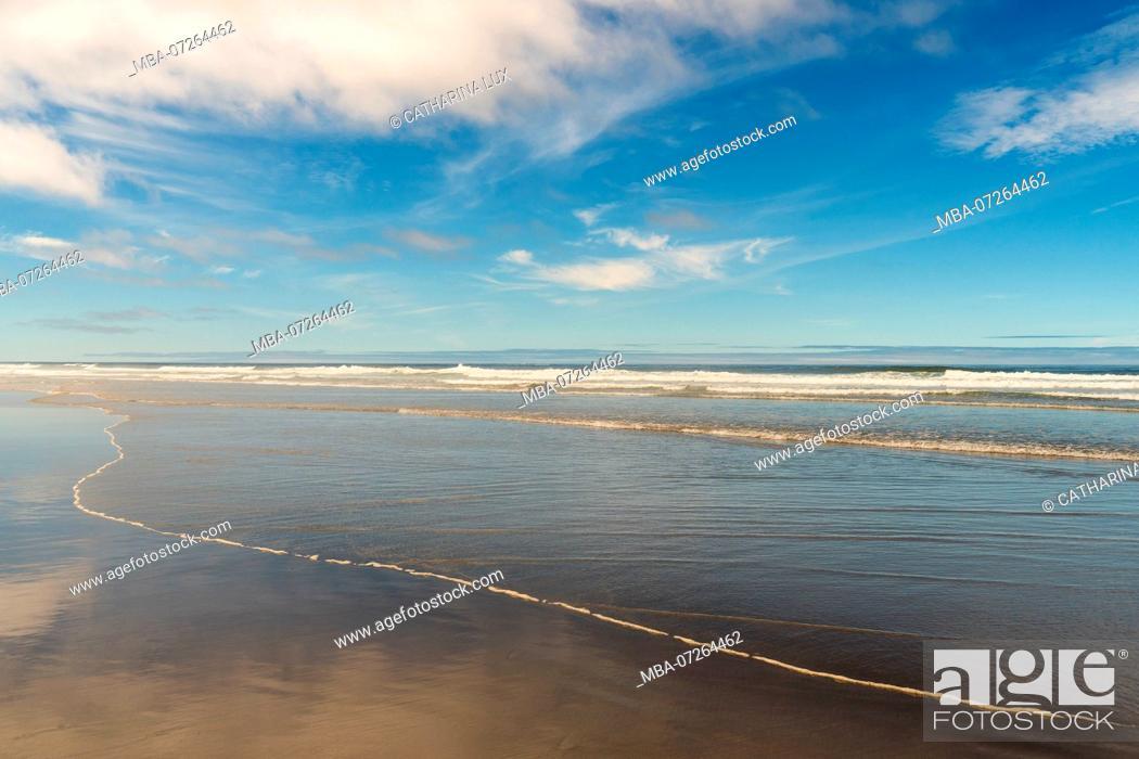Stock Photo: Pacific Coast, Cannon Beach, low tide.