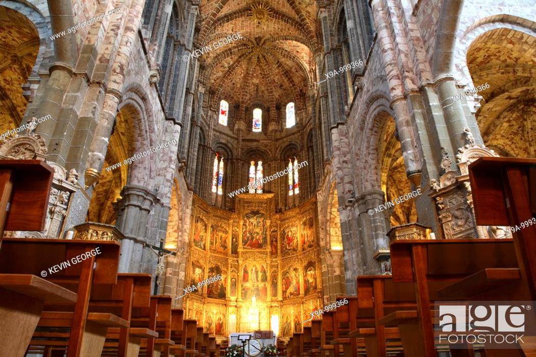 Stock Photo: Cathedral, Avila, Castile and Leon, Spain.