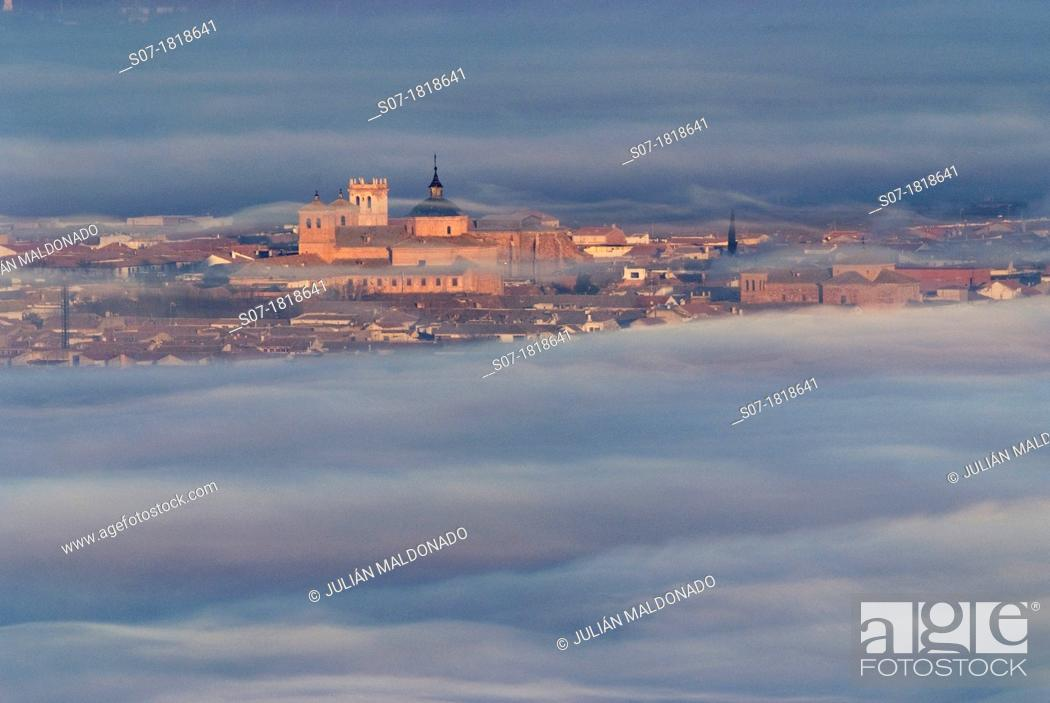 Stock Photo: Cloudy Sunrise in Almagro, Ciudad Real.