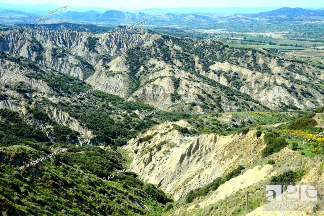 Stock Photo: Landscape in Basilicata, Southern Italy, Europe.