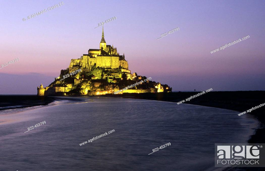 Stock Photo: Mont-Saint-Michel. Manche. Normandy. France.