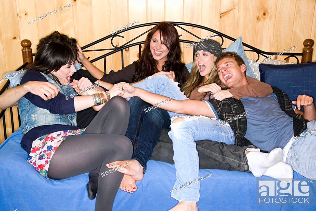 Stock Photo: Friends having fun.