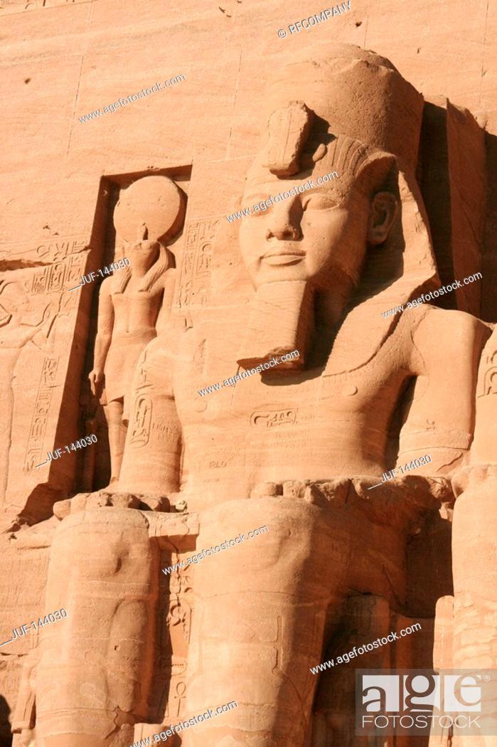 Stock Photo: Egypt: Abu Simbel - Great Temple.