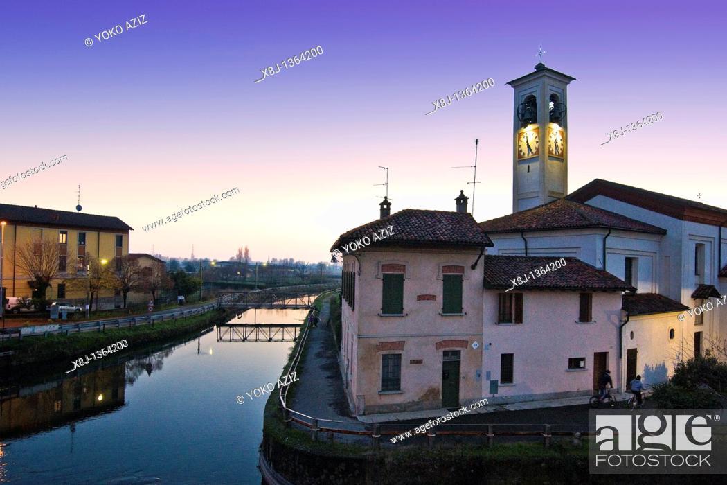 Stock Photo: Abbiategrasso, Milan province, Italy.