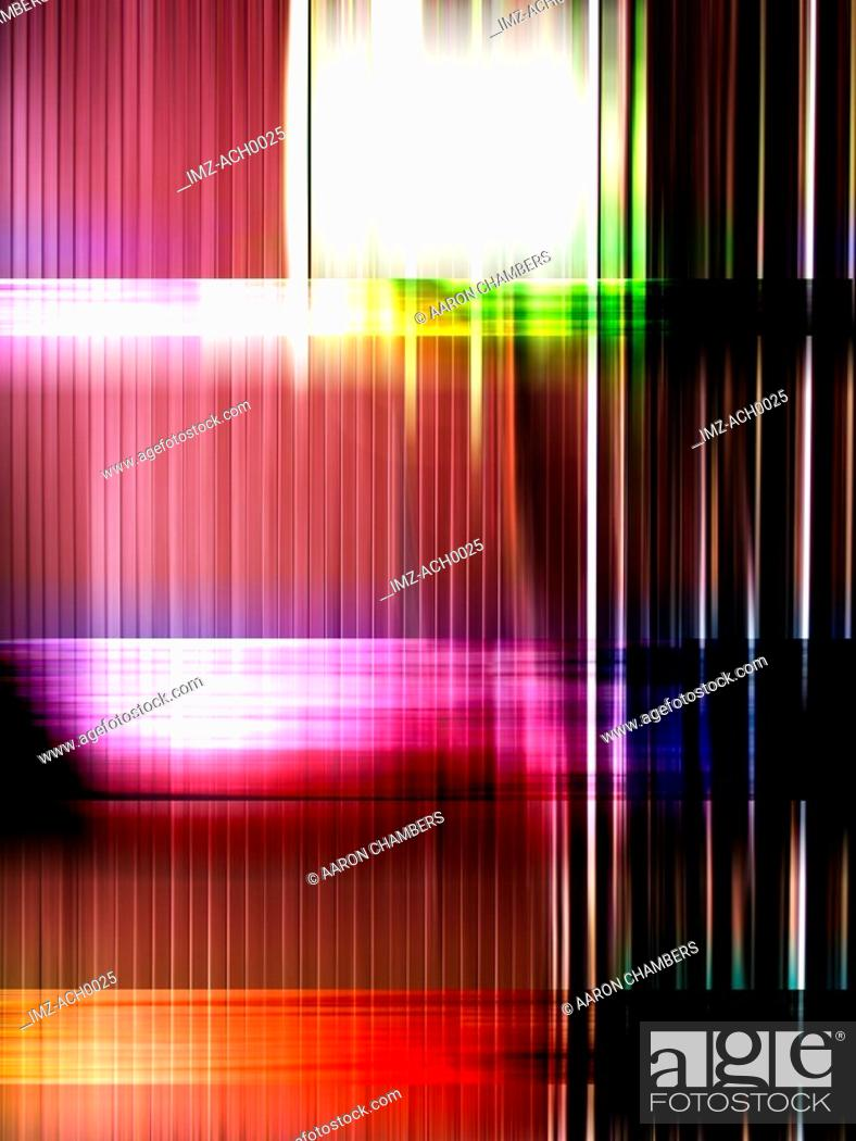 Stock Photo: Track lines graphically represented in colors.