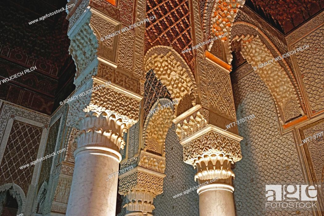 Photo de stock: Loggia in Historic Royal Necropolis, Marrakesh, Marocco.