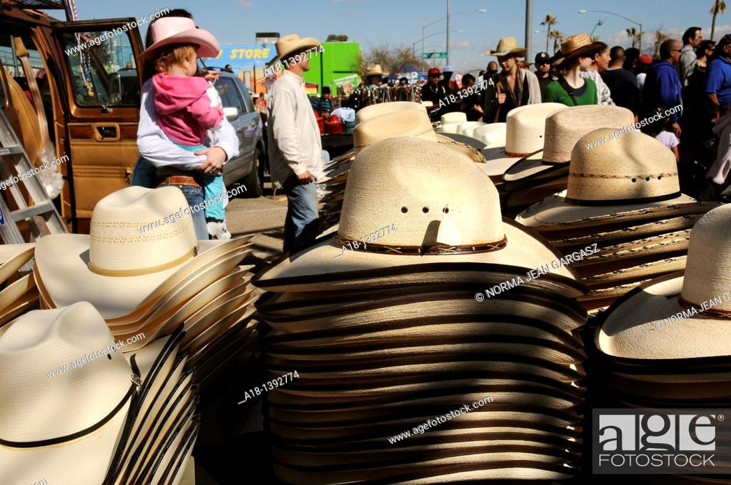 Stock Photo: The parade at the Fiesta de Los Vaqueros, an annual rodeo in Tucson, Arizona, USA, claims to be the longest non-motorized parade in the world.