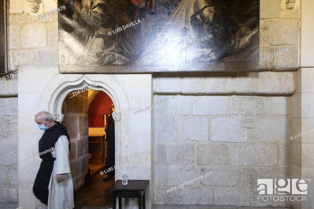 Stock Photo: cloister of Santa Maria de El Paular Monastery. Madrid. Spain.