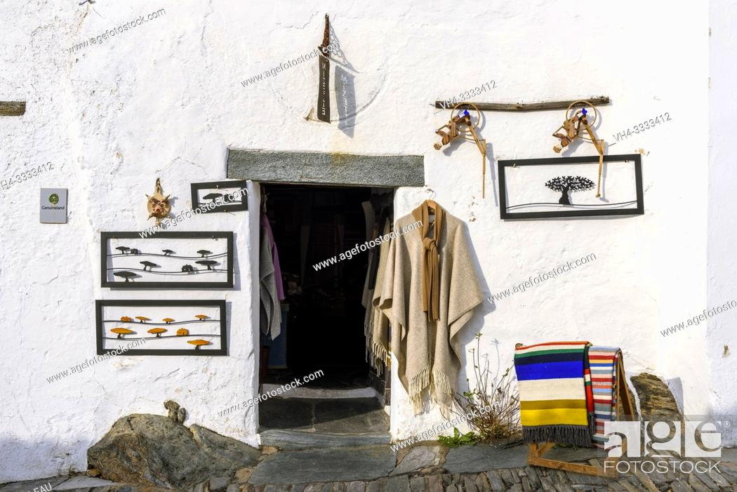 Stock Photo: Traditional local handicraft shop in Monsaraz village, Reguengos de Monsaraz Municipality, Evora District, Alentejo Region, Portugal, Europe.