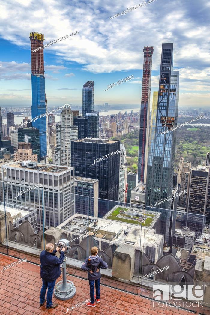 Imagen: USA, New York City, Manhattan, Midtown Mahattan Skyline, Central Park.