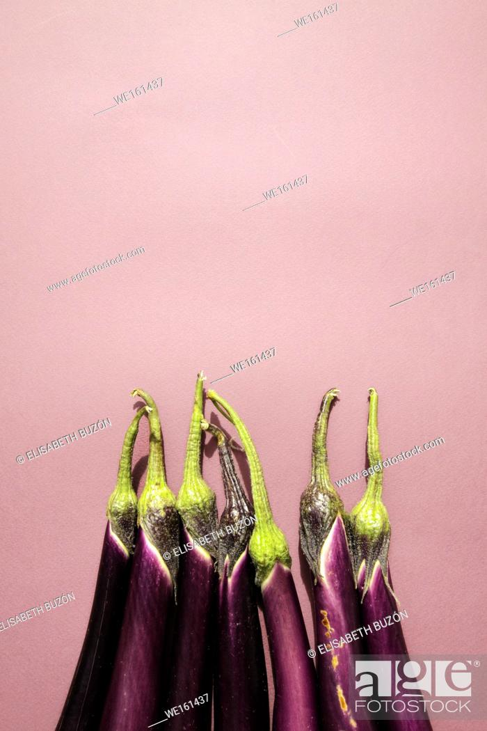 Stock Photo: Eggplant with white fur on white background.