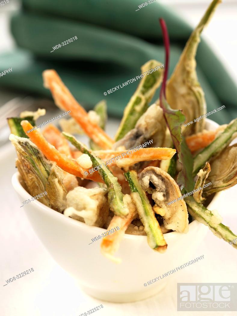 Stock Photo: Tempura de verduras / Vegetable tempura.