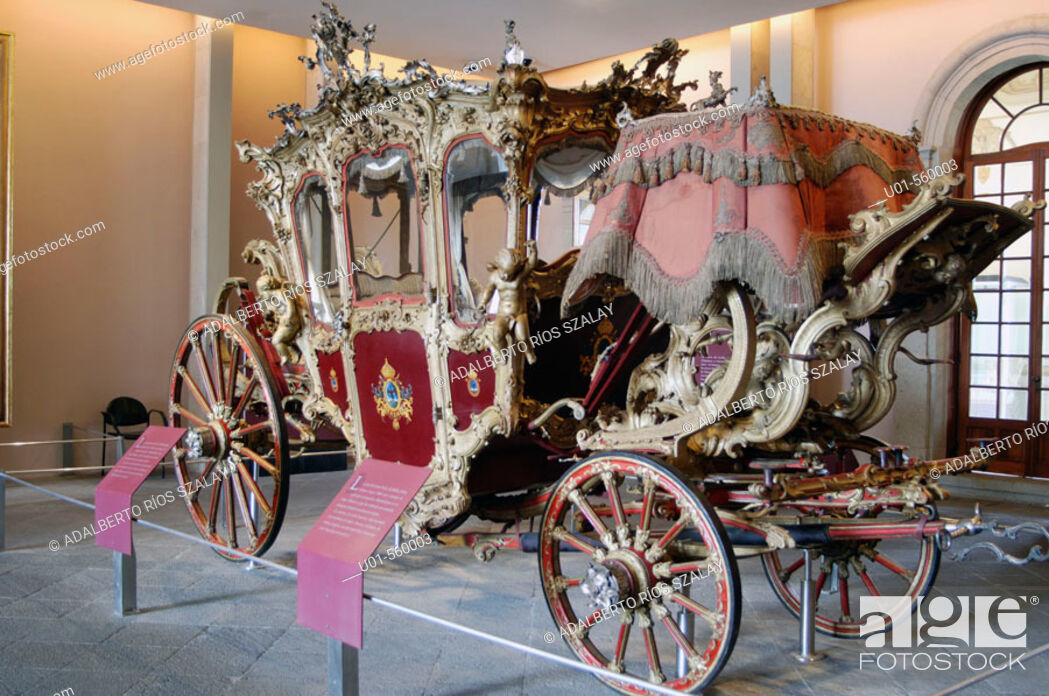Stock Photo: Gala carriage of Maximilian of Habsburg. It was built in 1857 by Cesare Scala, decorated especially for him and Empress Carlota.