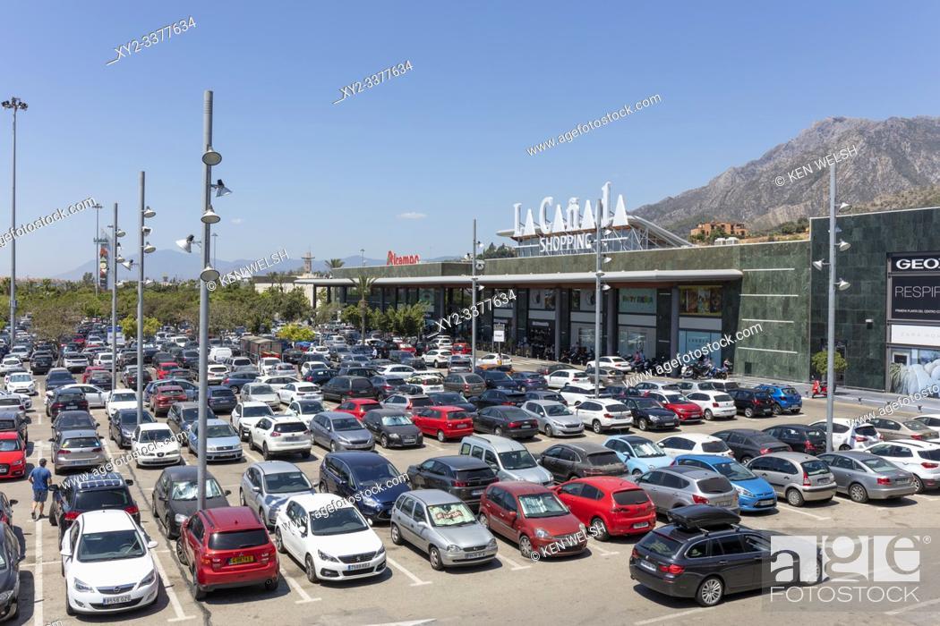 Stock Photo: La Canada shopping centre, Marbella, Costa del Sol, Malaga Province, Andalusia, southern Spain.