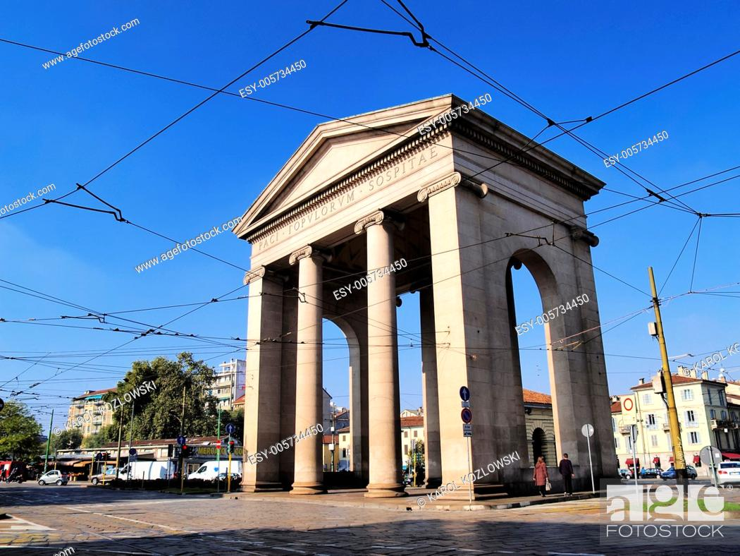Photo de stock: Monument in Milan - city in Lombardy, Italy.