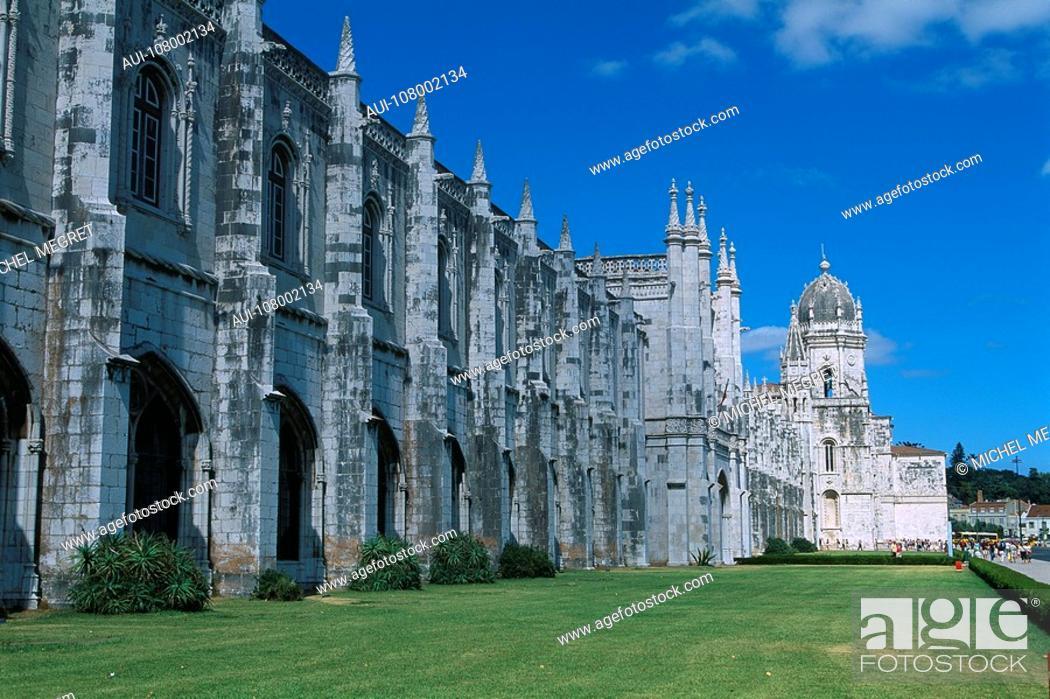Stock Photo: Portugal - Lisbon - Mosteiro dos Jeronimos.