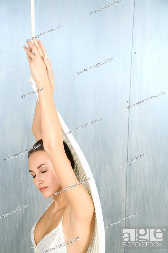 Stock Photo: beautiful woman reaxing.