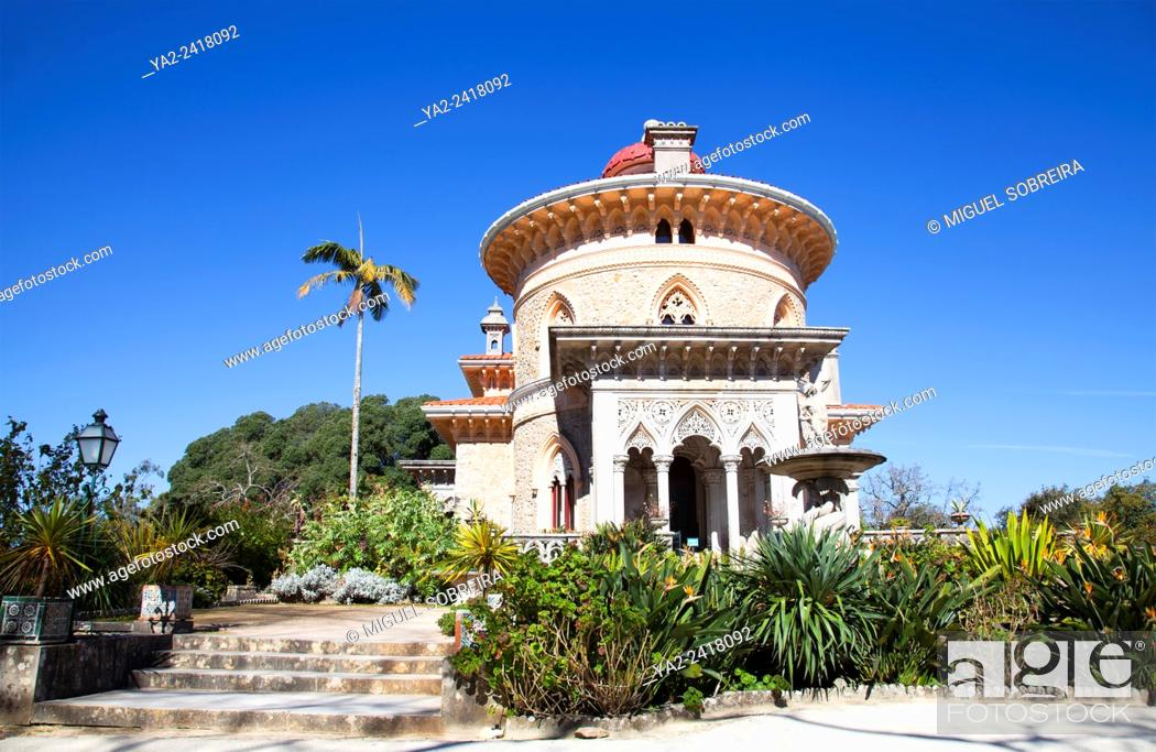 Stock Photo: Monserrate Palace Villa and Grounds - Sintra Portugal.