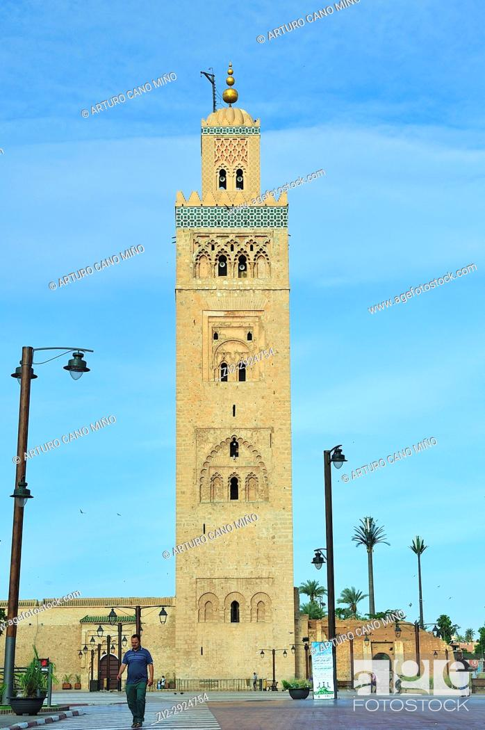 Imagen: The Koutoubia Mosque, XIIth century. Marrakesh city, Morocco.