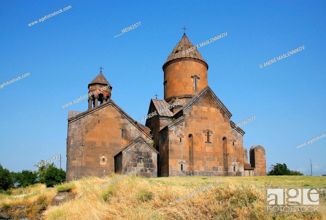 Stock Photo: Monastery Saghmosavank from  AD 1215, outside Yerevan. Armenia.