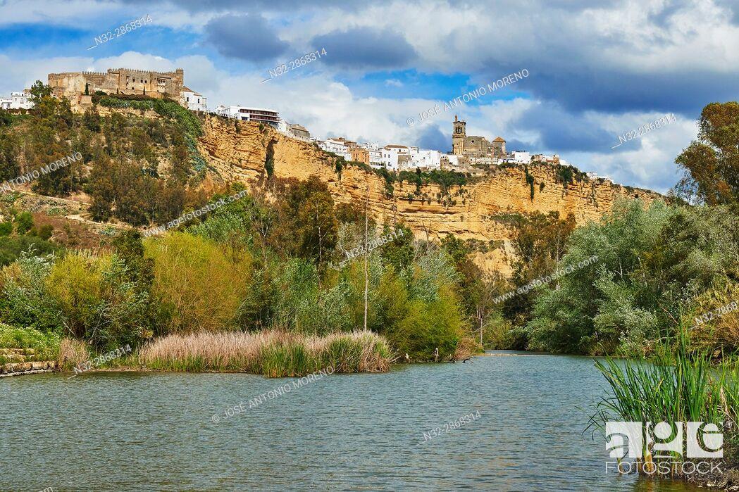 Stock Photo: Arcos de la Frontera, Pueblos Blancos ('white towns') Route Cadiz province, Andalusia, Spain.