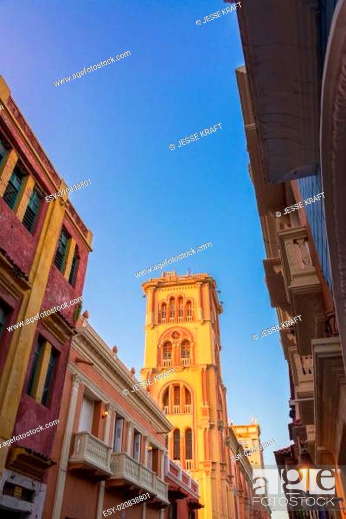 Stock Photo: Tower of Cartagena Public University.