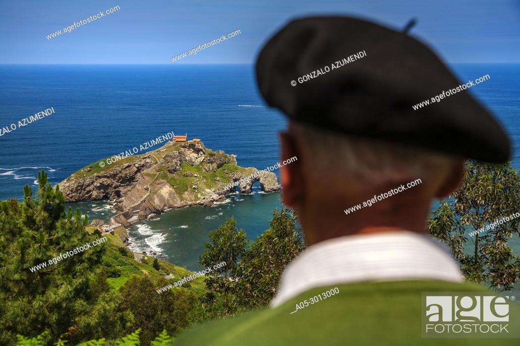 Imagen: San Juan de Gaztelugatxe . Bermeo. Coast of Biscay. Urdaibai Region. Bizkaia. Pais Vasco. Basque Country. Spain.